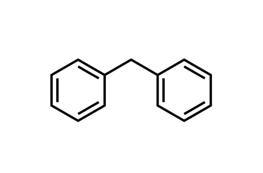 ジフェニルメタンの構造式
