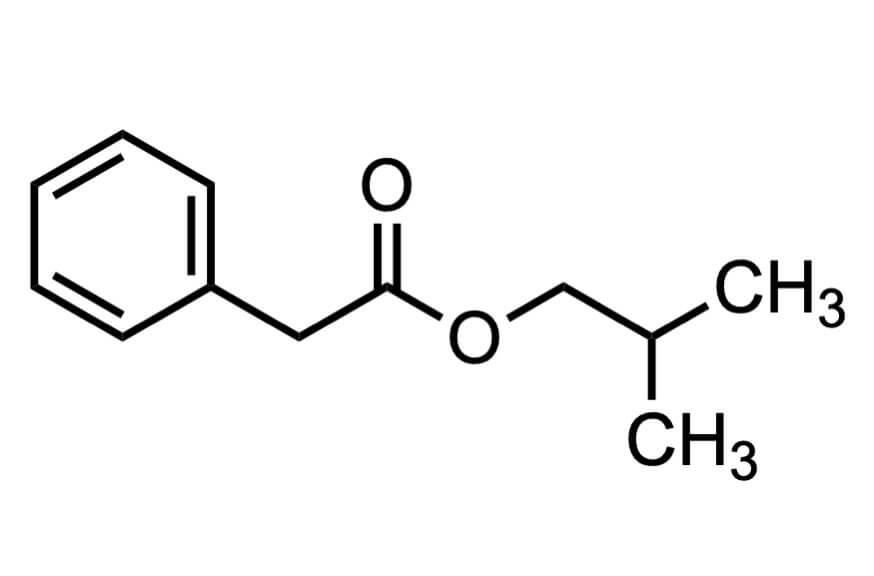 フェニル酢酸イソブチルの構造式