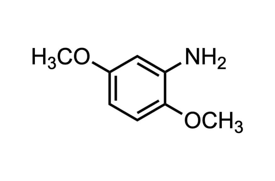 2,5-ジメトキシアニリンの構造式