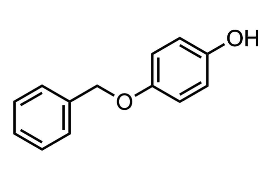 4-(ベンジルオキシ)フェノールの構造式