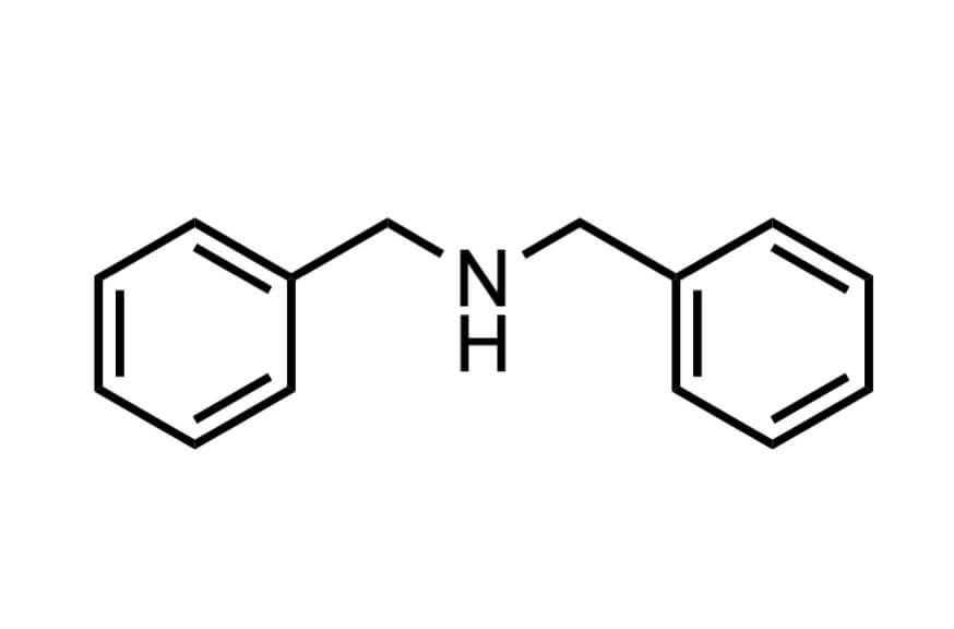 ジベンジルアミンの構造式