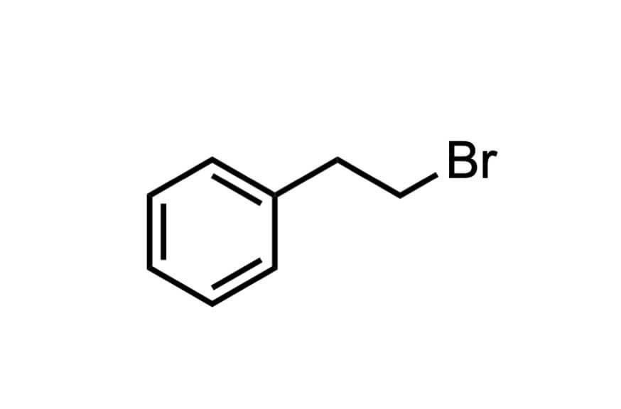 (2-ブロモエチル)ベンゼンの構造式