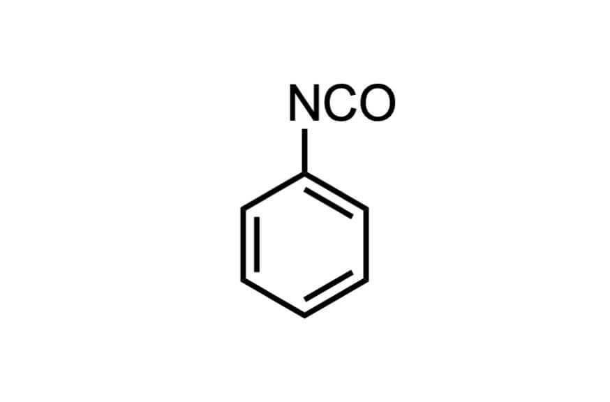 イソシアン酸フェニルの構造式