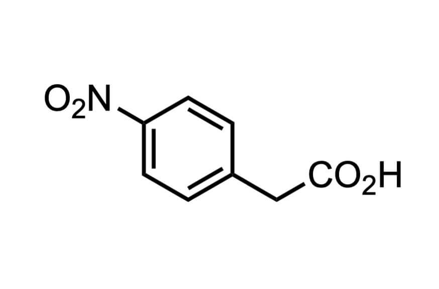 4-ニトロフェニル酢酸の構造式