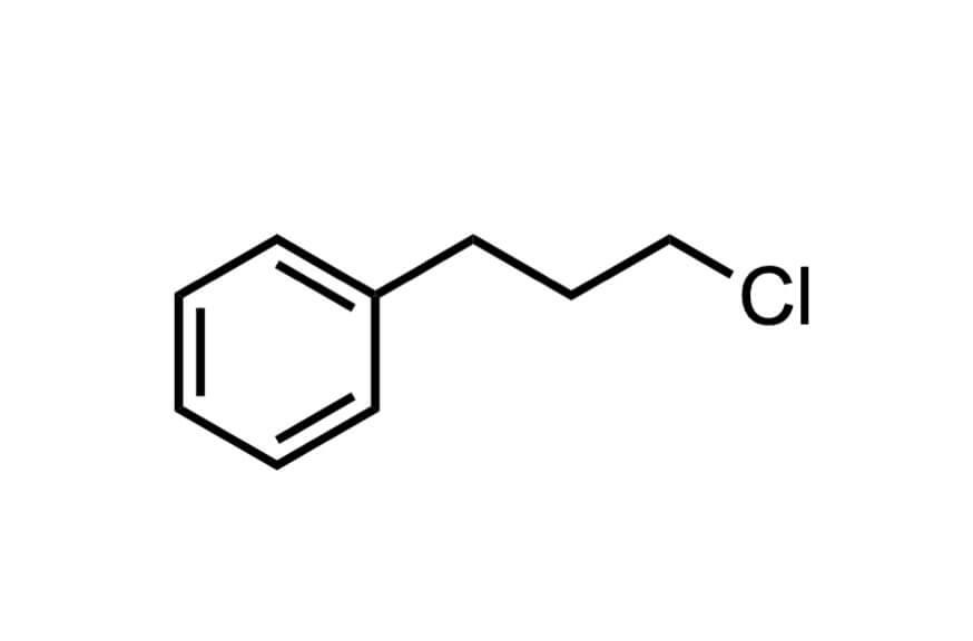 3-フェニルプロピルクロリドの構造式