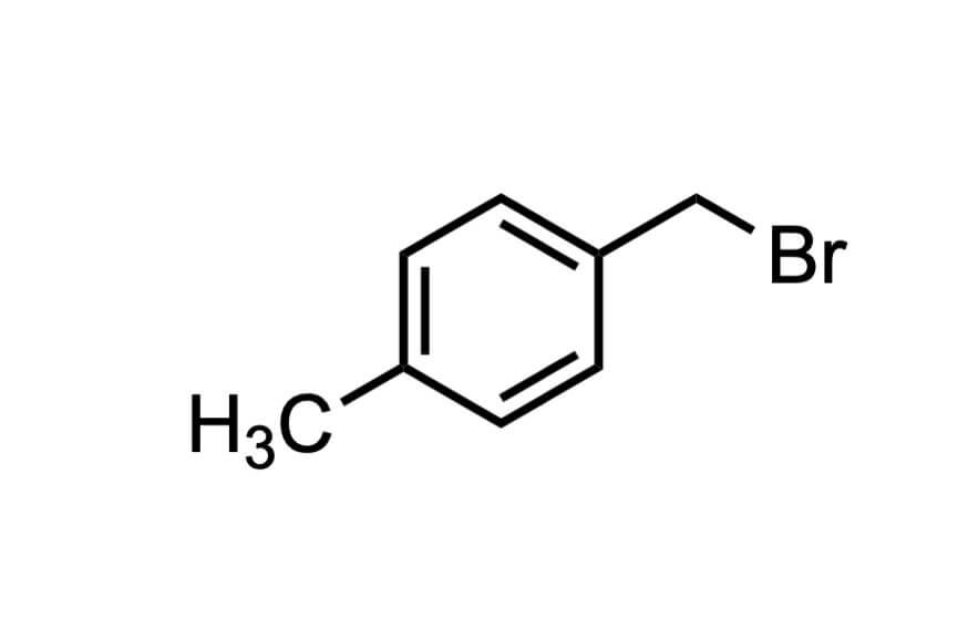 α-ブロモ-p-キシレンの構造式