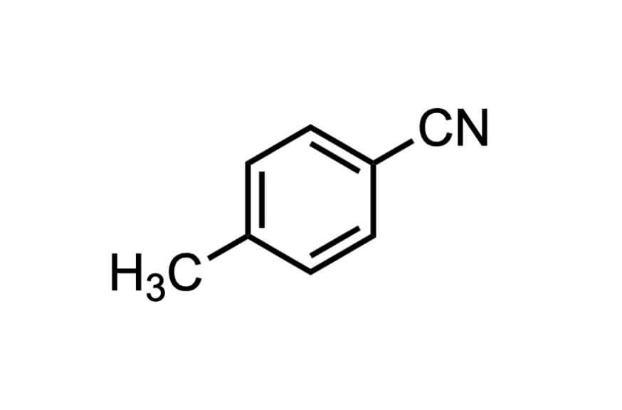 p-トルニトリルの構造式