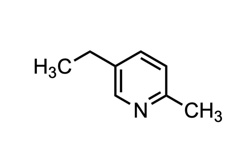 5-エチル-2-メチルピリジンの構造式