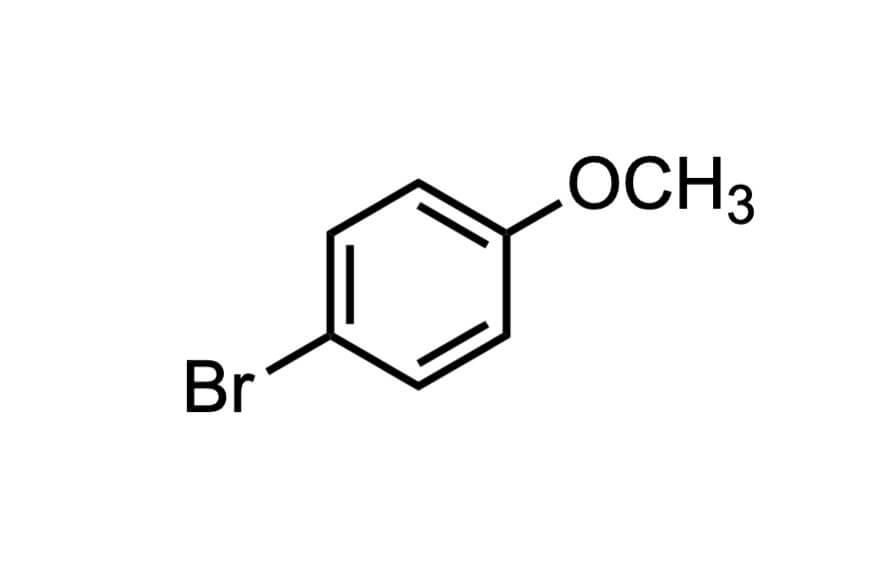 4-ブロモアニソールの構造式