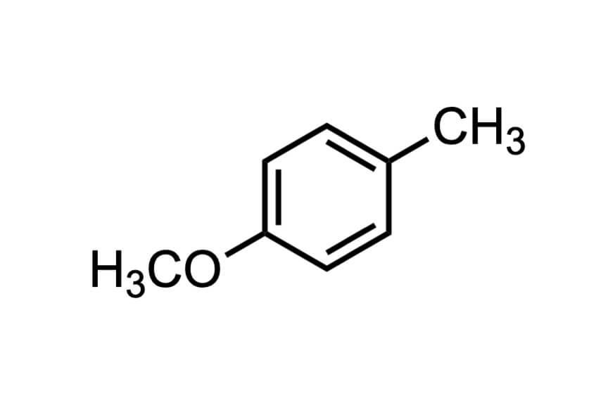 4-メトキシトルエンの構造式