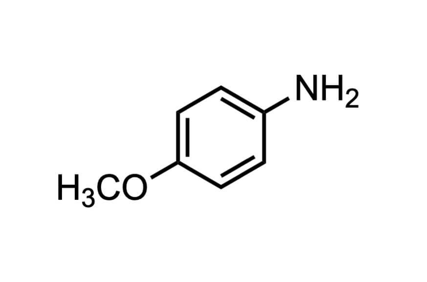 p-アニシジンの構造式