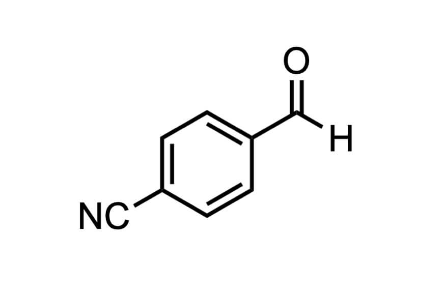 4-ホルミルベンゾニトリルの構造式