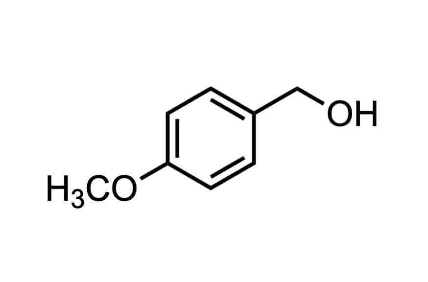 4-メトキシベンジルアルコールの構造式