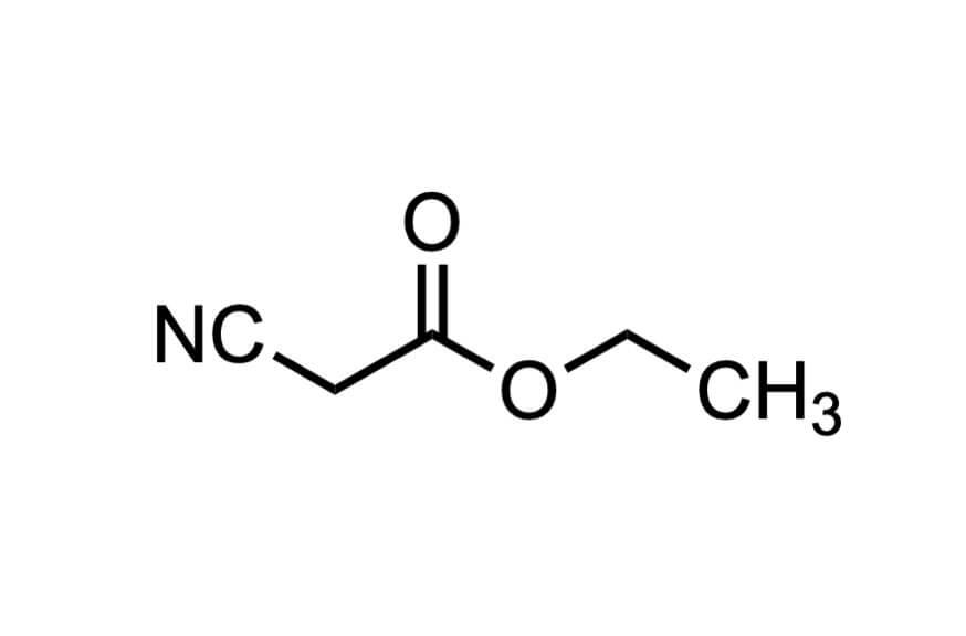 シアノ酢酸メチルの構造式