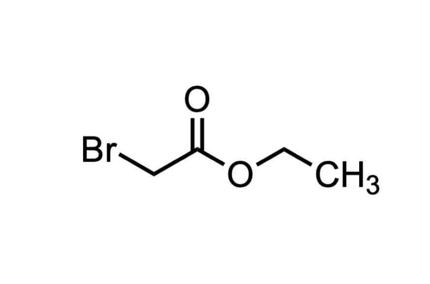 ブロモ酢酸エチルの構造式