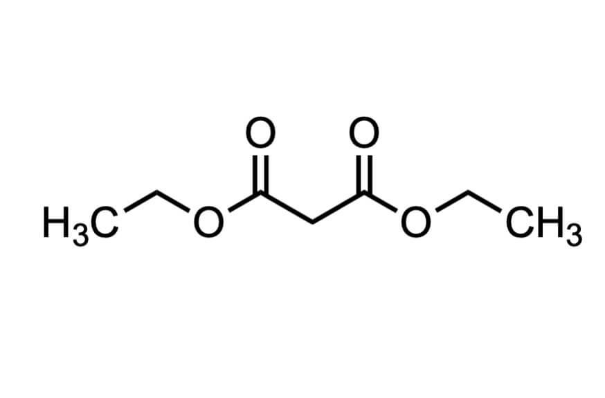 マロン酸ジエチルの構造式