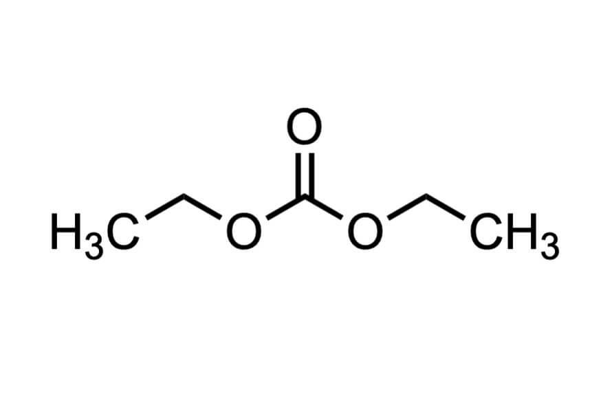 炭酸ジエチルの構造式