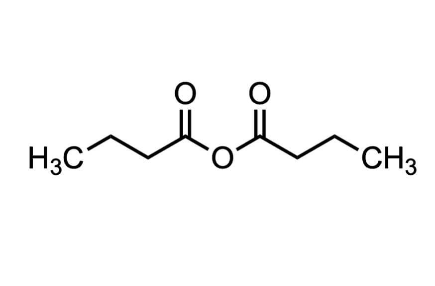 酪酸無水物の構造式