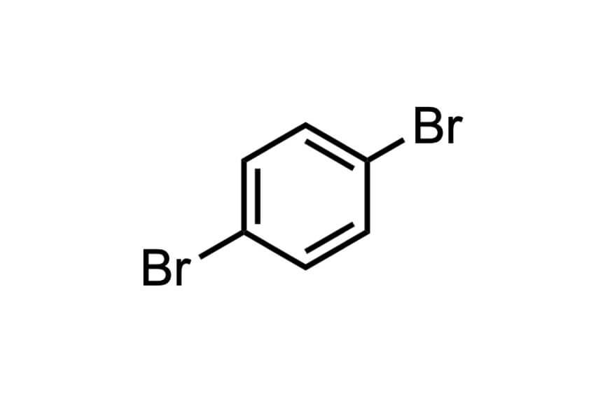 1,4-ジブロモベンゼンの構造式