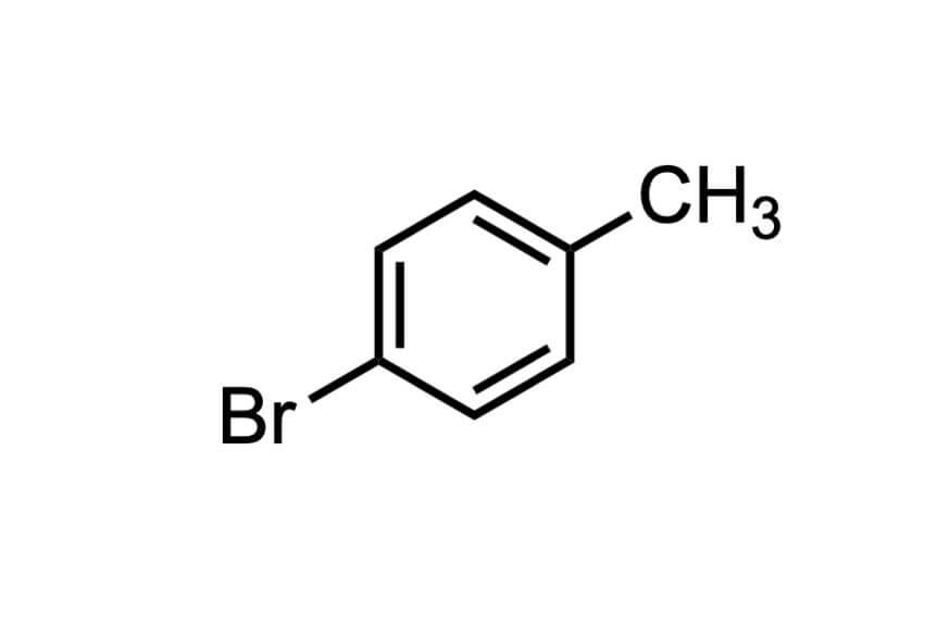 4-ブロモトルエンの構造式
