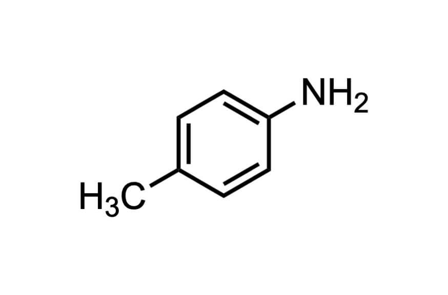 p-トルイジンの構造式