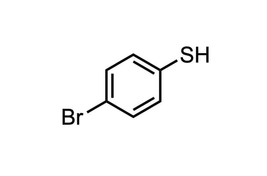 4-ブロモベンゼンチオールの構造式