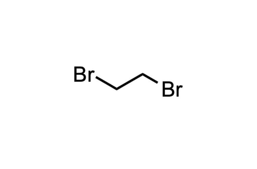 1,2-ジブロモエタンの構造式