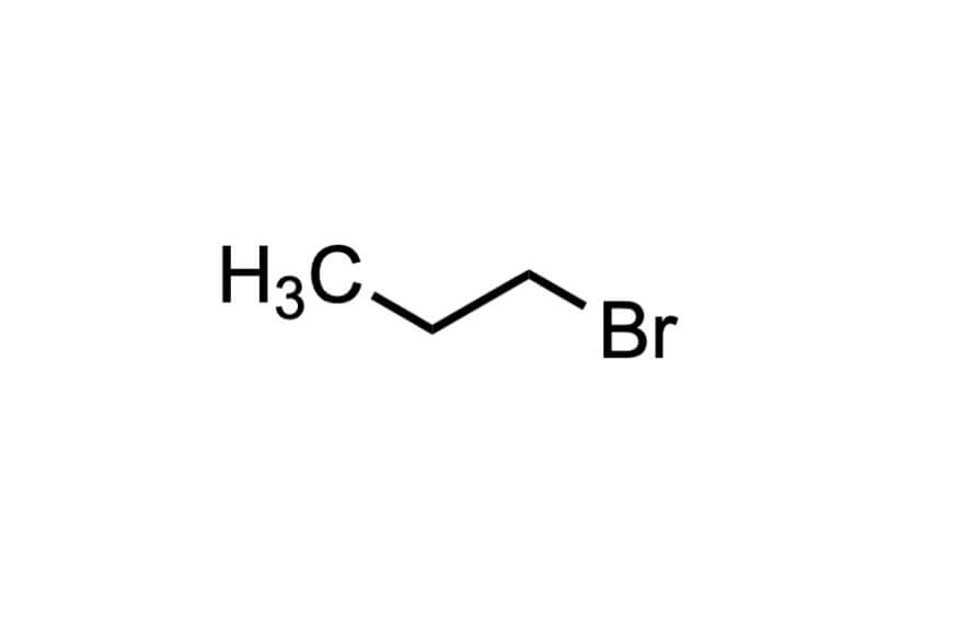 1-ブロモプロパンの構造式