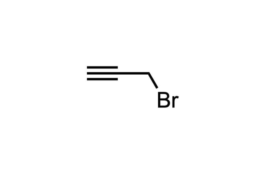 プロパルギルブロミドの構造式