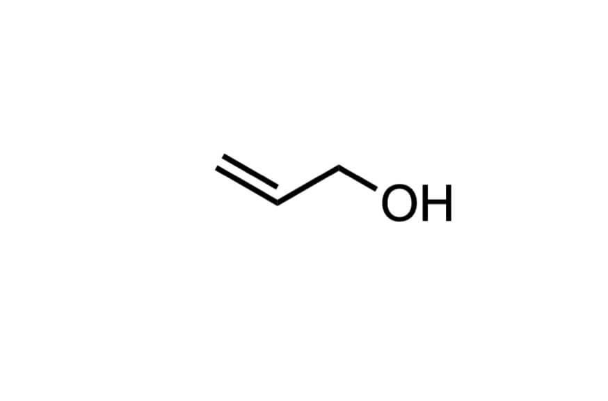 アリルアルコールの構造式