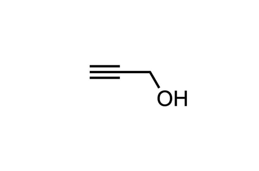 2-プロピン-1-オールの構造式