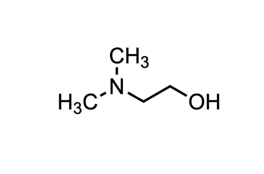 2-(ジメチルアミノ)エタノールの構造式