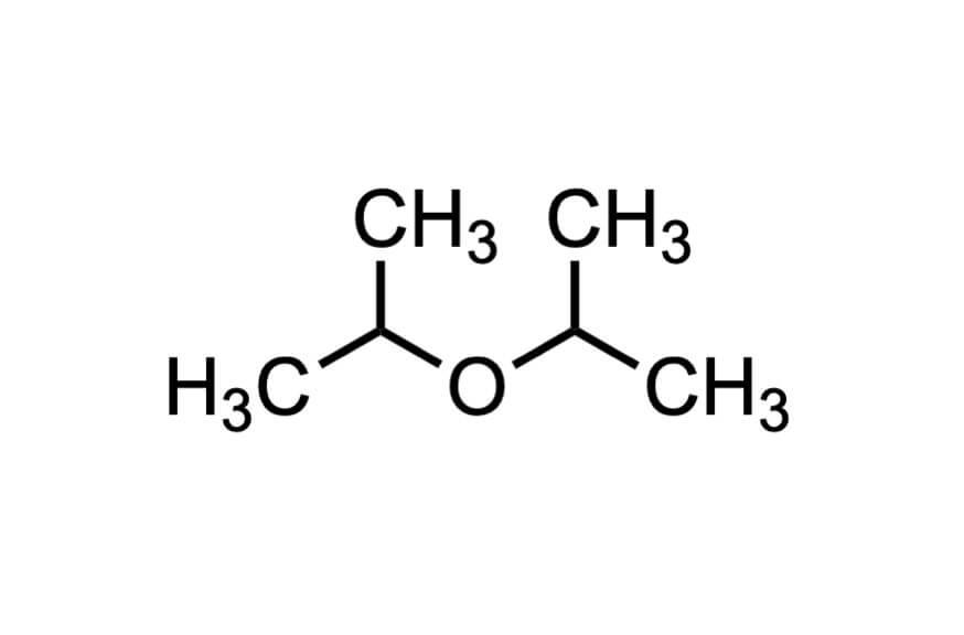 イソプロピルエーテルの構造式