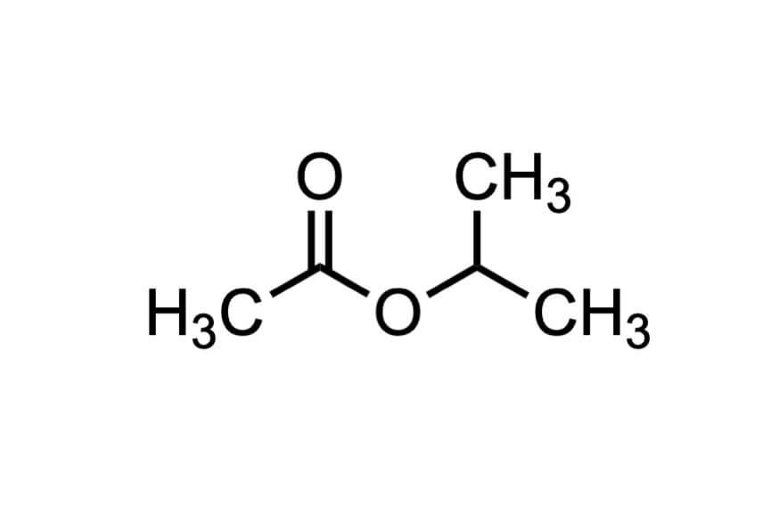 酢酸イソプロピルの構造式