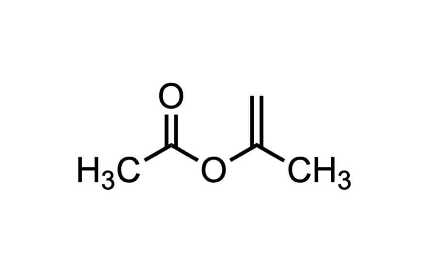 酢酸イソプロペニルの構造式