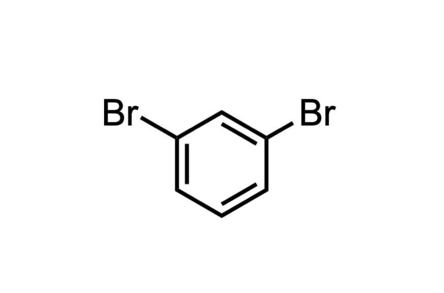 1,3-ジブロモベンゼンの構造式