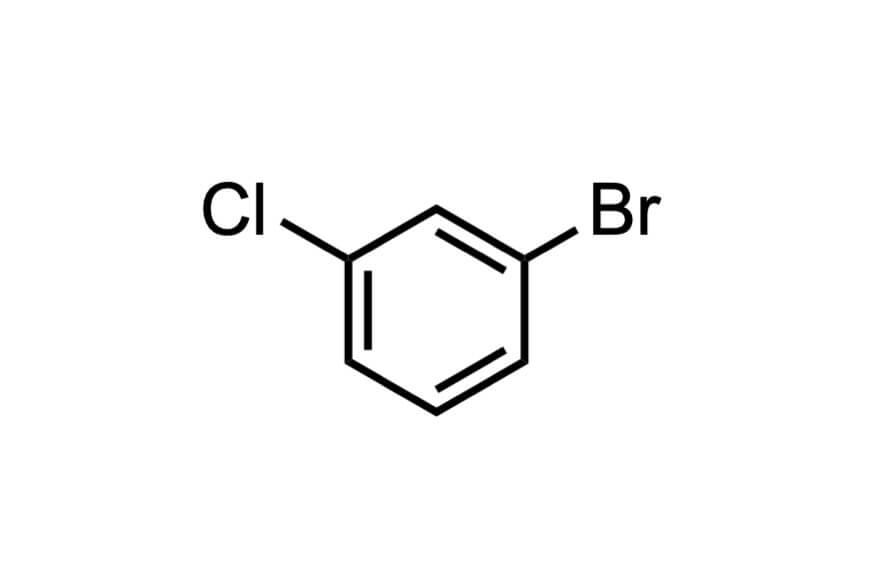 1-ブロモ-3-クロロベンゼンの構造式