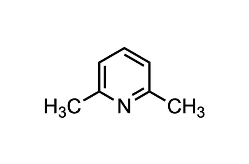 2,6-ルチジンの構造式