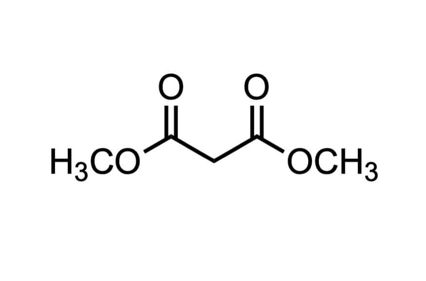 マロン酸ジメチルの構造式