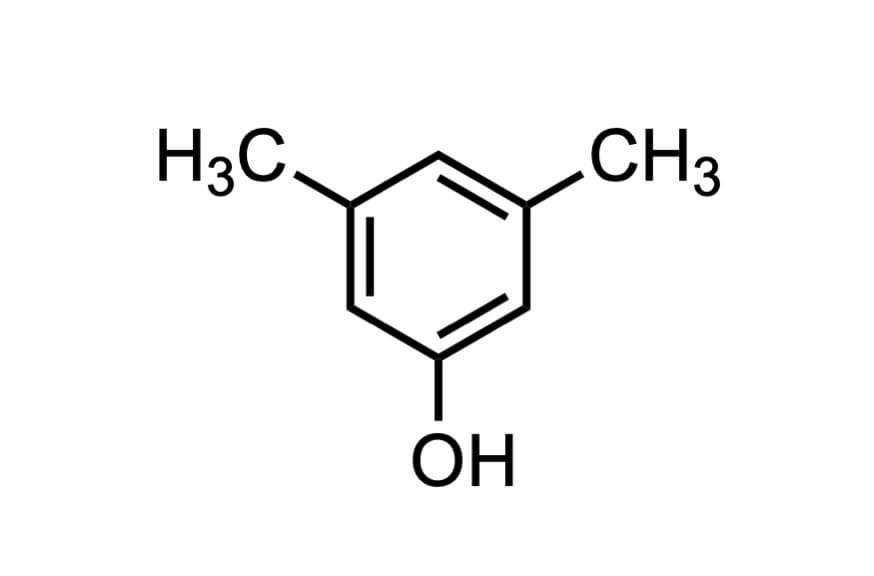 3,5-ジメチルフェノールの構造式