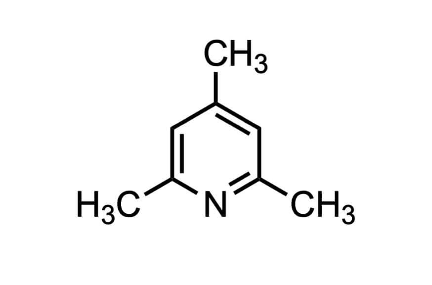 2,4,6-トリメチルピリジンの構造式