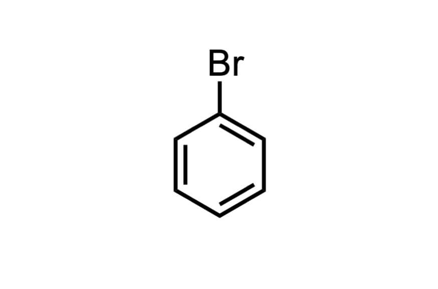 ブロモベンゼンの構造式