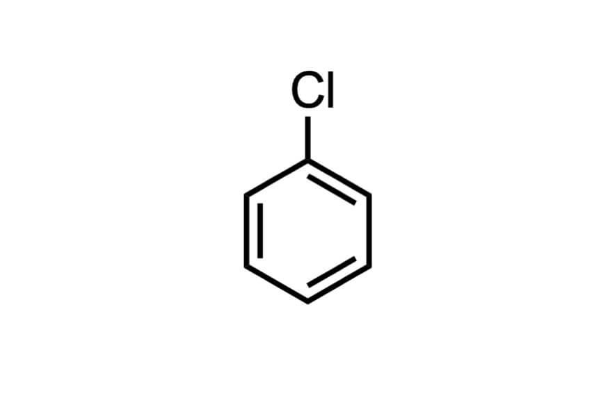 クロロベンゼンの構造式