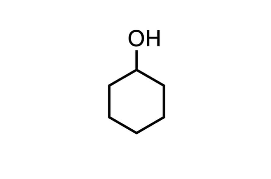 シクロヘキサノールの構造式