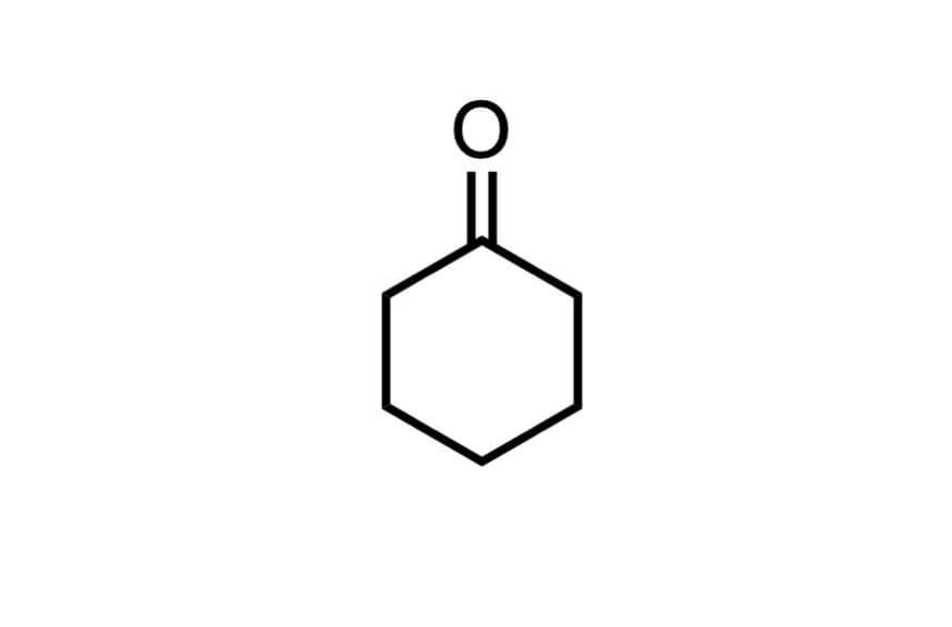 シクロヘキサノンの構造式