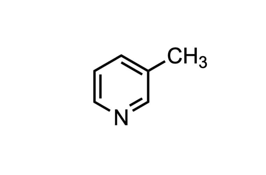 3-メチルピリジンの構造式
