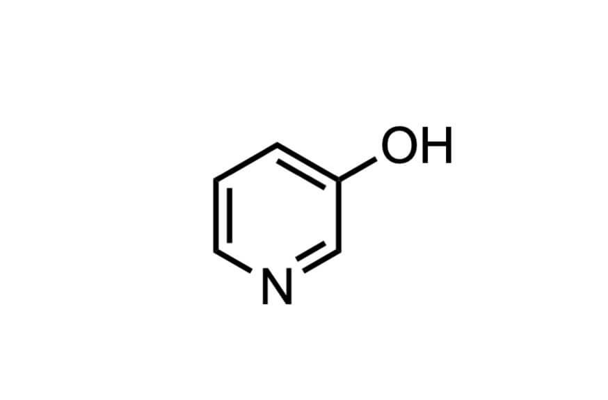 3-ヒドロキシピリジンの構造式