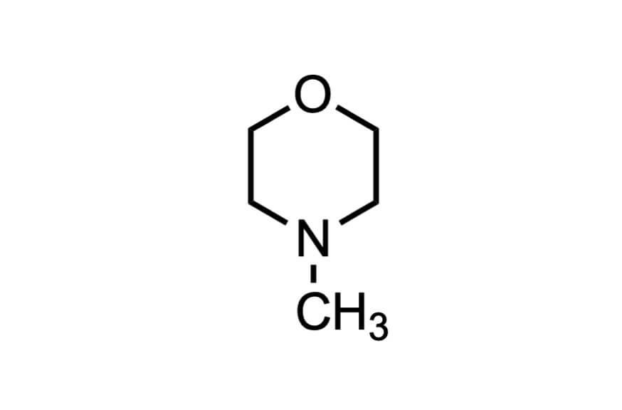 4-メチルモルホリンの構造式