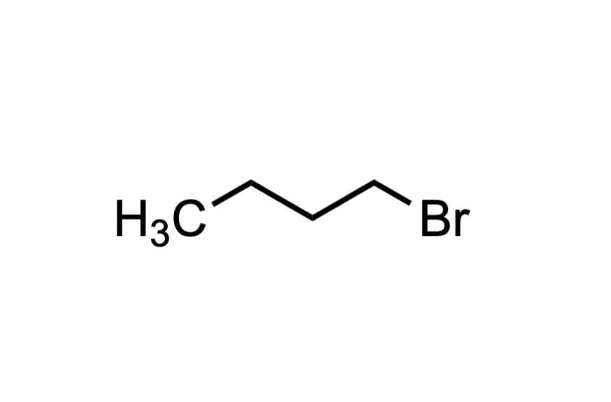1-ブロモブタンの構造式