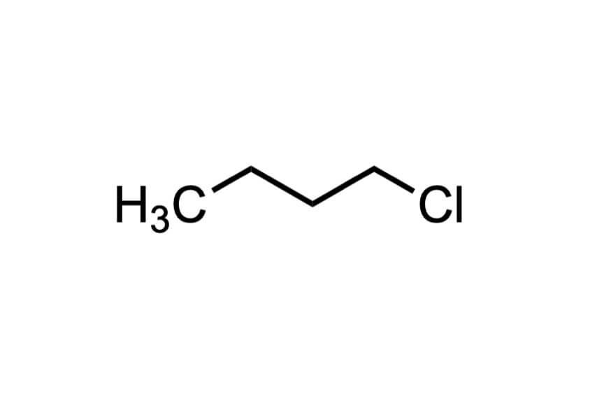1-クロロブタンの構造式